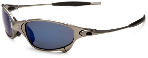 Oakley Men's Juliet Iridium Polarized Sunglasses,Plasma Frame/Ice Lens