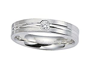 Benchmark 4mm Comfort Fit Diamond Wedding Band Ring Size 10.5