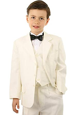 costume mariage enfant ivoire avec veste gilet pantalon pour gar on v tements et. Black Bedroom Furniture Sets. Home Design Ideas