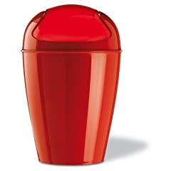 Del Swing Top Wastebasket Color: Strawberry Red Size: Medium