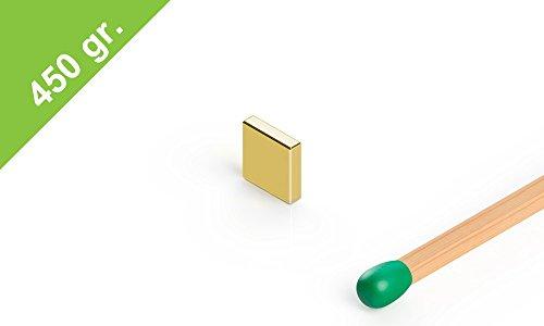 Neodym Quadermagnet, 5x5x1.2mm, vergoldet, Grade N48