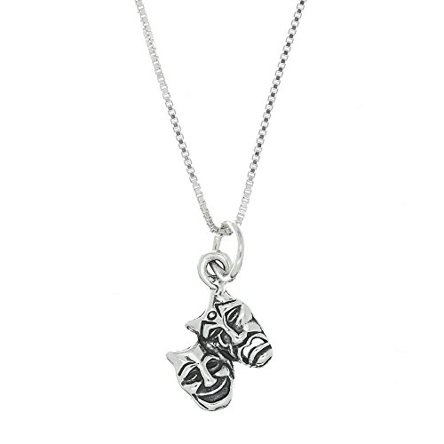 sterling-silver-oxidized-medium-size-drama-theater-comedy-tragedy-mask-necklace-16-inches