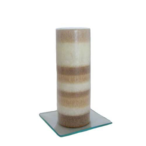 Vanilla and Toffee Scented Pillar Candle - 7.5