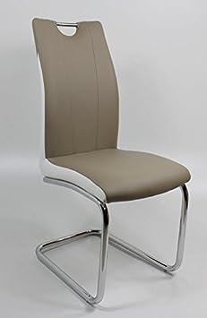 Schwingstuhl CIARA ergonomisch in 4er Set Cappuccino / Weiß by Wohnorama