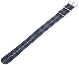 Timex T7B914 Weekender 20mm Blue/Gray Nylon Slip-Thru Watch Strap