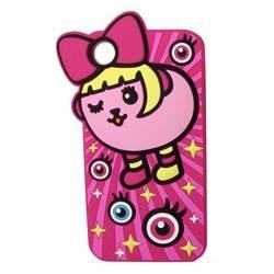 【アウトレット】豆しぱみゅぱみゅ iPhone4/4S 兼用 半立体型 シリコンケース