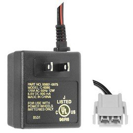 Power Wheels battery charger, 6 volt, Type H connector.