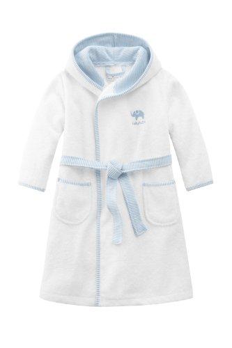 Bellybutton Kids Baby - Jungen Bademantel Bellybutton Kids Bademantel mit Gürtel, 10868-90604, Gr. 80, Mehrfarbig (white/light blue)