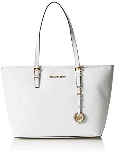 Borse Shopping Michael Kors Donna Pelle Bianco Ottico 30S4GTVT2LOPTICWHITE Bianco 15x27x33 cmEU