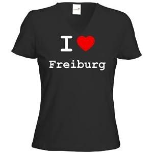 getshirts - Best of - T-Shirt Damen V-Neck - love - I love Freiburg