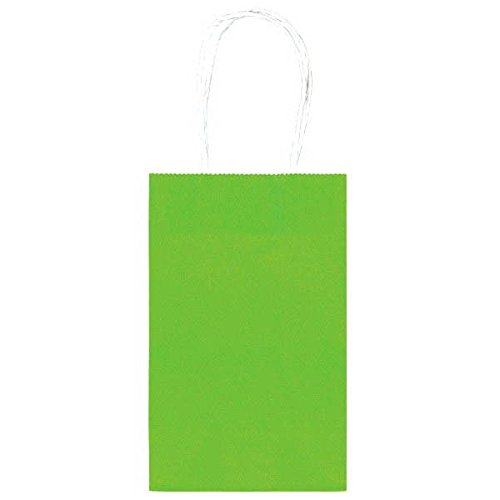 "Handy Birthday Party Cub Bag, 8.25 x 5.25 x 3.25"", Green, 10-Pack"