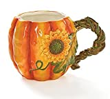 Large 17oz Autumn Pumpkin Shape Coffee Mug cup Great Thanksgiving Kitchen Decor