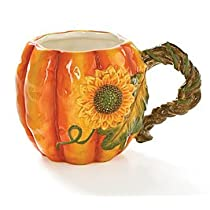 Large 17oz Autumn Pumpkin Shape Coffee Mug/cup Great Thanksgiving Kitchen Decor