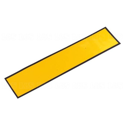 Magnetic Oblong Number Plate - Yellow