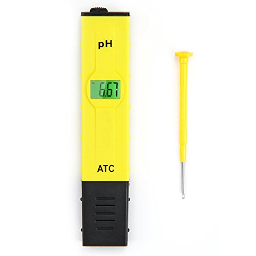 Umiin 0.05pH High Accuracy Pocket Size Digital PH Meter Tester with ATC and Backlit LCD,Yellow (Precision Water Distiller compare prices)