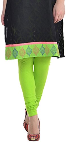 Sohniye Women's Cotton Leggings [Lime Green]