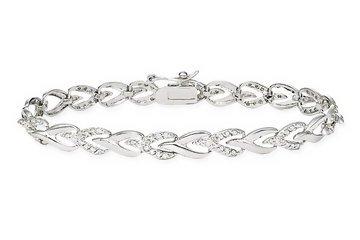 Diamond Bracelet - Sterling silver tennis bracelet (1 ct)