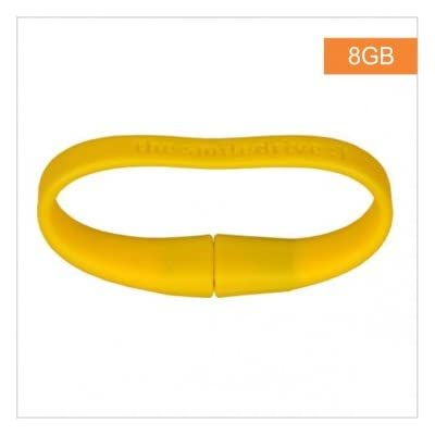 Superfast USB 3.0 - 8 GB Wristband Pen Drive - Yellow