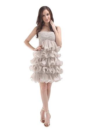 herafa p31543 8 prom kleider romantische stil schulterfrei ohne arm reihen von spitzen mini. Black Bedroom Furniture Sets. Home Design Ideas
