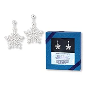 Sparkling Christmas Holiday Crystal SNOWFLAKE EARRINGS