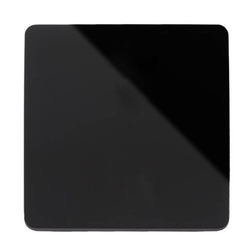 Trendi Switch Artistic Modern Glossy Single Blanking Plate Black