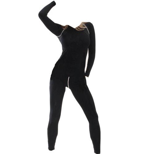 Cox Swain Thermo Women Funktionswäsche Set Hose und Langarm Shirt in bewährter Cox Swain Qualität, Farbe: Black, Größe: M