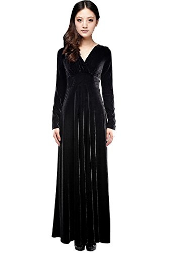 Long sleeve black concert dress