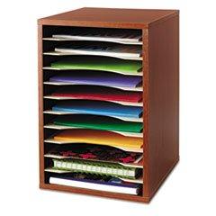 * Wood Vertical Desktop Literature Sorter, 11 Sections 10 5/8 x 11 7/8 x 16, Cherry