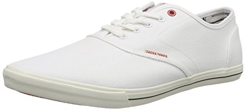 Jack and Jones Jjspider Canvas, Men's Low-Top Sneakers, White (Bright White), 10 UK (44 EU)