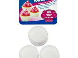 SweetBake Mini White Paper Baking Cups ( Case of 24 )