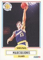 Sarunas Marciulionis Golden State Warriors 1990 Fleer Autographed Hand Signed Trading... by Hall of Fame Memorabilia