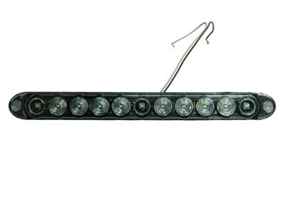 Larsonelectronics Led Strip Light - 11 Leds - 1 Watt Leds - 12Vdc - Strobe Or Constant Led Beam