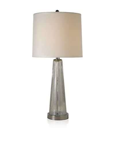 Trend Lighting Chiara Table Lamp, Clear/Polished Chrome