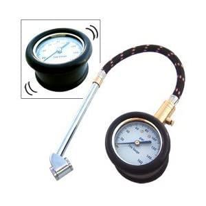 Heavy Duty Tire Gauge with Large Dial, Flex Hose