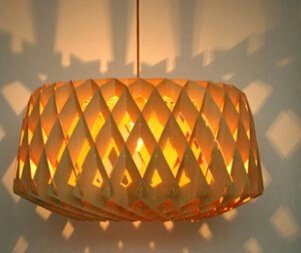 FAYM-Ideas living room dining room den wood honeycomb chandelier