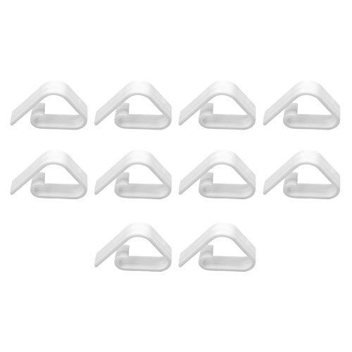 Bluecell Set of 10 White Color Tablecover Table Cloth Clip Clamp for Home Party & Picnic