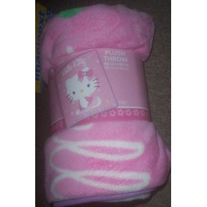 Hello Kitty Plush Throw – Pink