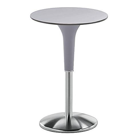 REXITE - ZANZIPLANO Tavolino rotondo, colore grigio perla