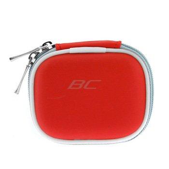 Red Premium Unviersal Bluetooth Headset Pouch Carrying Case For Jabra Bt125 Bt135 Bt160 Bt185 Bt2040 Bt3010 Bt350 Bt5010, Nokia Bh-900 Bh-803 Bh-800 Bh-703 Bh-700 Bh-602 Bh-302 Bh-211 Bh-202 Bh-208 Bh-201 Hs-26W, Blueant Z9 Z9I X3 V1 V12, Samsung Wep700 W