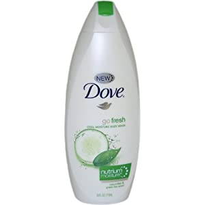 Dove go fresh Cool Moisture Body Wash, 24 Ounce (Pack of 3)