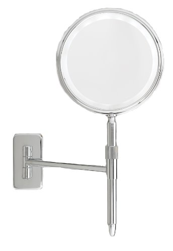 Danielle Led Light Wall Mount And 2-In-1 Mirror, Silver