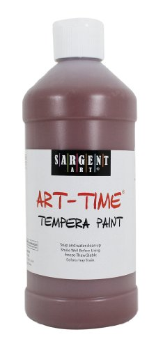 Sargent Art 22-6488 16-Ounce Art Time Tempera, Brown