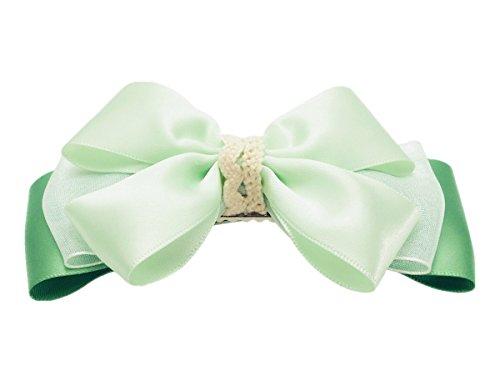 Victoria Cat Flower Girls/ Ladies Mint Green Spring Ponytail/ Braid Hair Dress Bow/ Clip Accessory