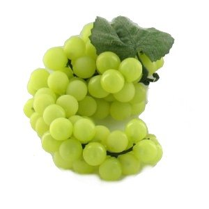 Green Grapes Artificial Fruit Kitchen Counter Bowl (Green Artificial Grapes compare prices)