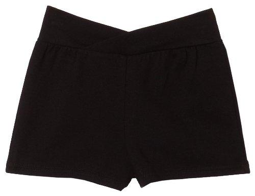 Capezio Little Girls' Short With Rhinestone Applique, Black, T (2-4) front-481144