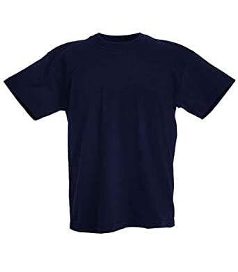 Fruit of the Loom Childrens T Shirt in Navy Size 2-3 (SS6B)