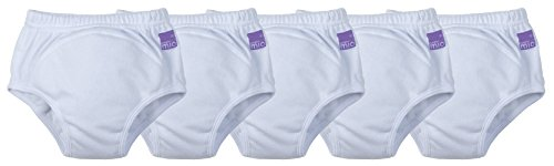 Bambino Mio Potty Training Pants 5 Pack, White, 18-24 Months