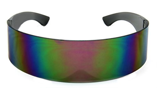 WebDeals - Futuristic Wrap Around Monoblock Cyclops Shield Sunglasses