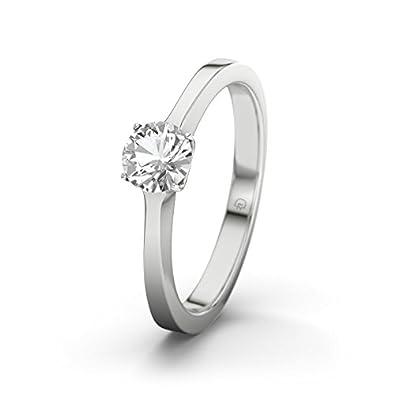 21DIAMONDS Women's Ring Minsk White Topaz Diamond Engagement Ring-Silver Engagement Ring
