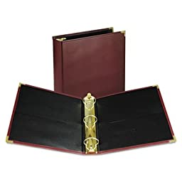 Classic Collection Ring Binder Portfolio, 11 x 8 1/2, 2\'\' Capacity, Burgundy